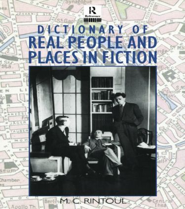 Dictionary of Real People and Places in Fiction (Paperback) book cover