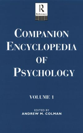 Companion Encyclopedia of Psychology: 2-Volume Set book cover