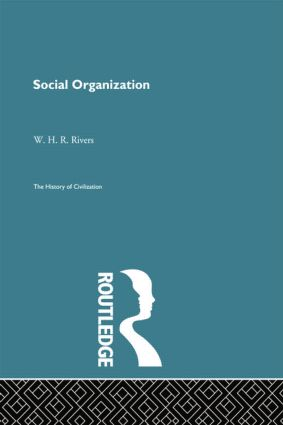 Social Organization: 1st Edition (Paperback) book cover