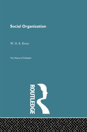 Social Organization book cover