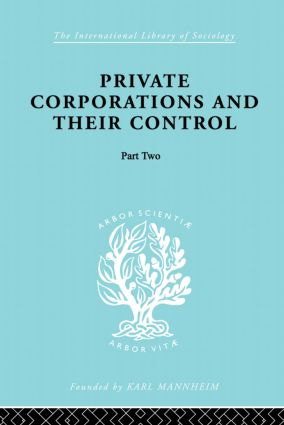 Private Corporations and their Control: Part 2, 1st Edition (Paperback) book cover