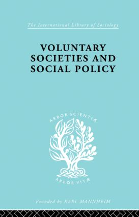 Voluntary Societies and Social Policy book cover