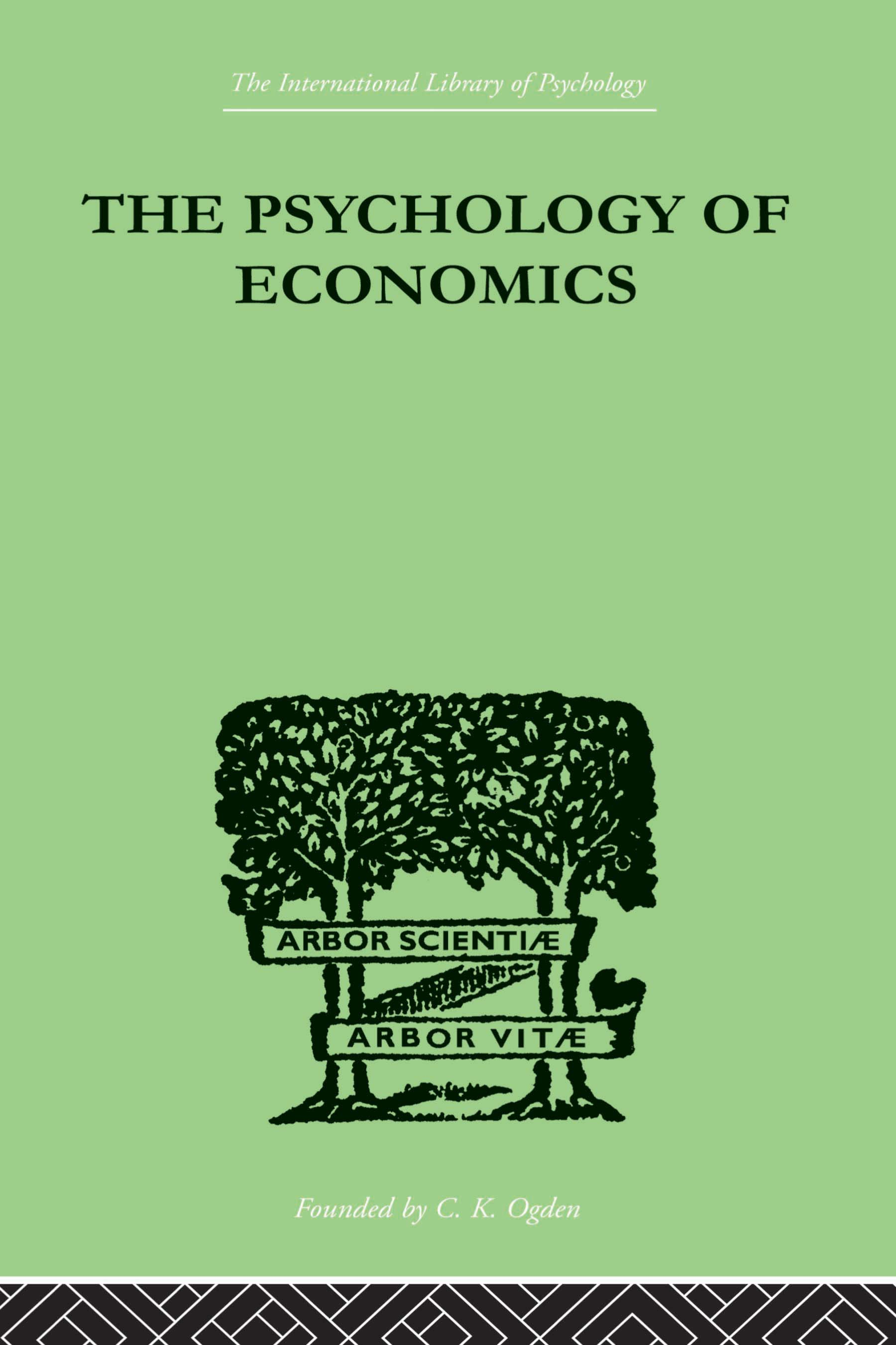 The Psychology Of Economics: 1st Edition (Paperback) book cover