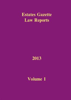 EGLR 2013 V1 book cover