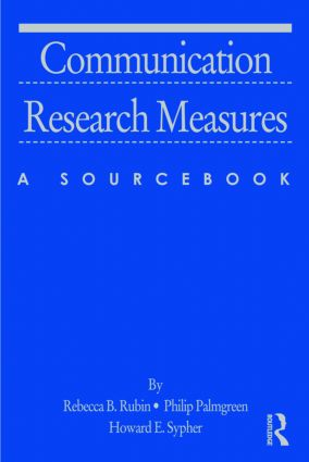 Communication Research Measures: A Sourcebook book cover