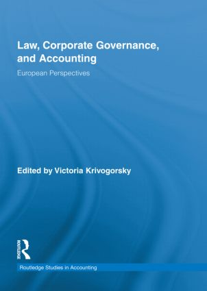 Law, Corporate Governance and Accounting: European Perspectives (Hardback) book cover