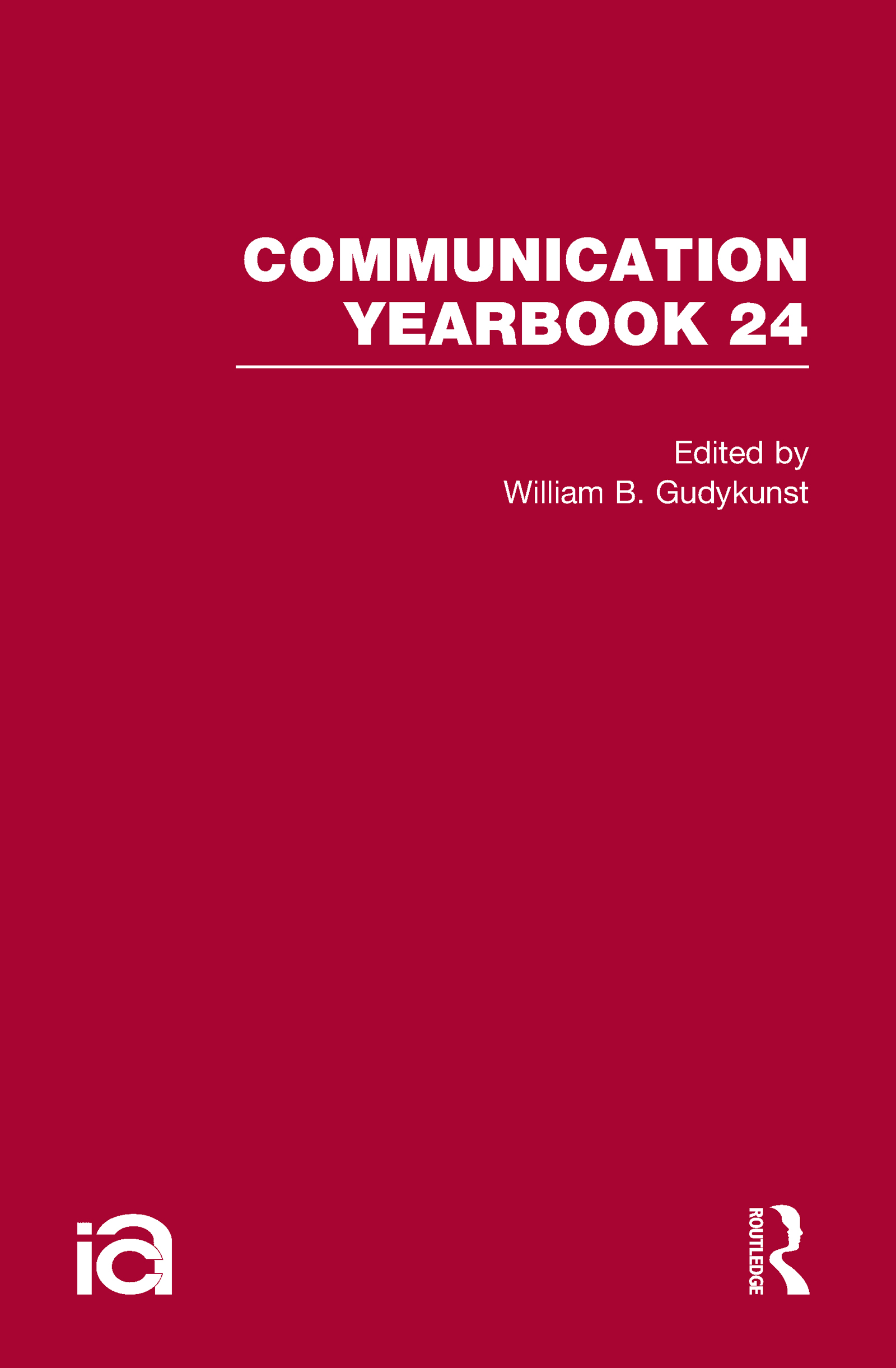 Communication Yearbook 24 (Hardback) book cover