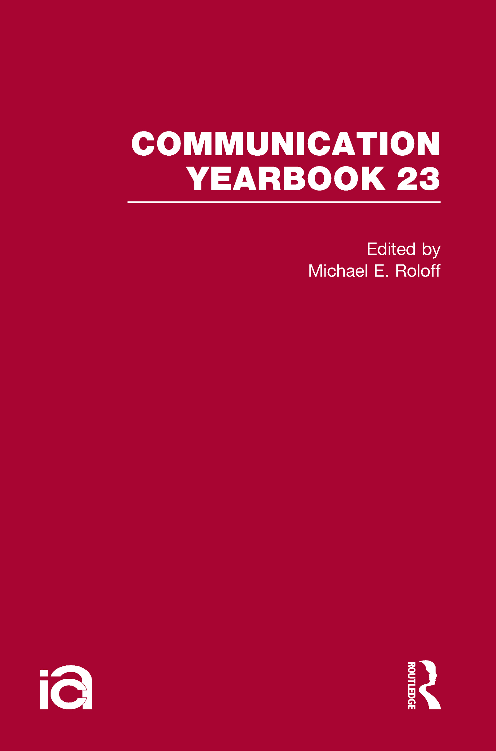 Communication Yearbook 23 (Hardback) book cover