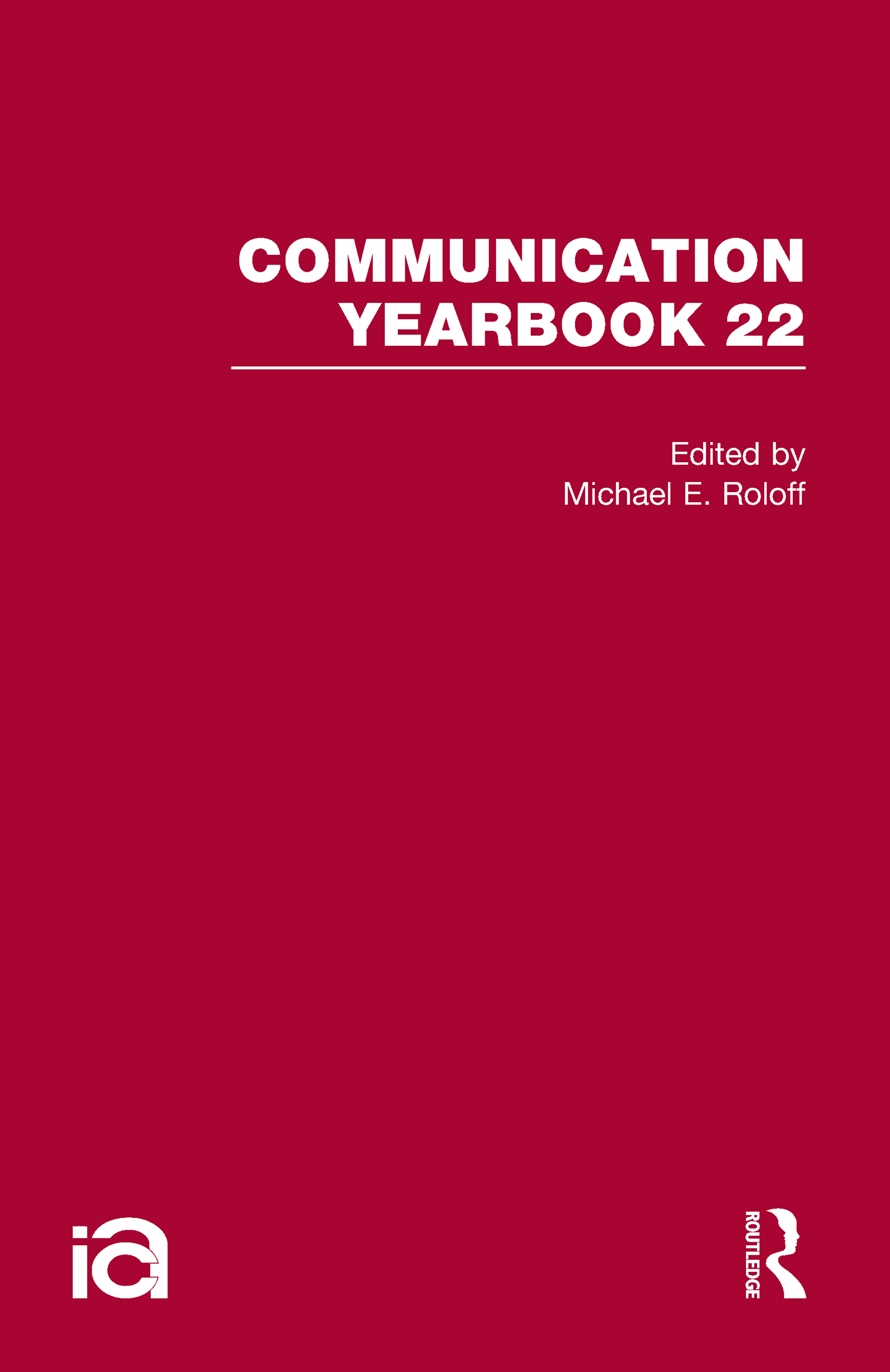 Communication Yearbook 22: 1st Edition (Hardback) book cover