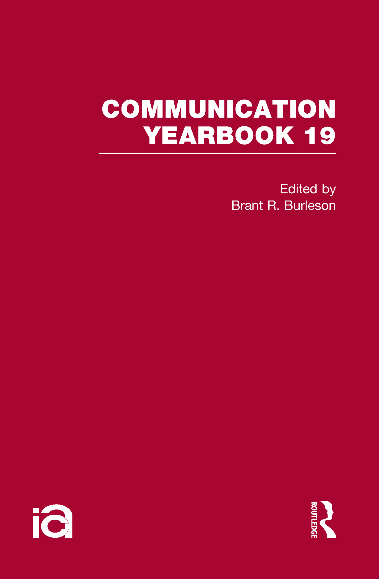 Communication Yearbook 19 (Hardback) book cover