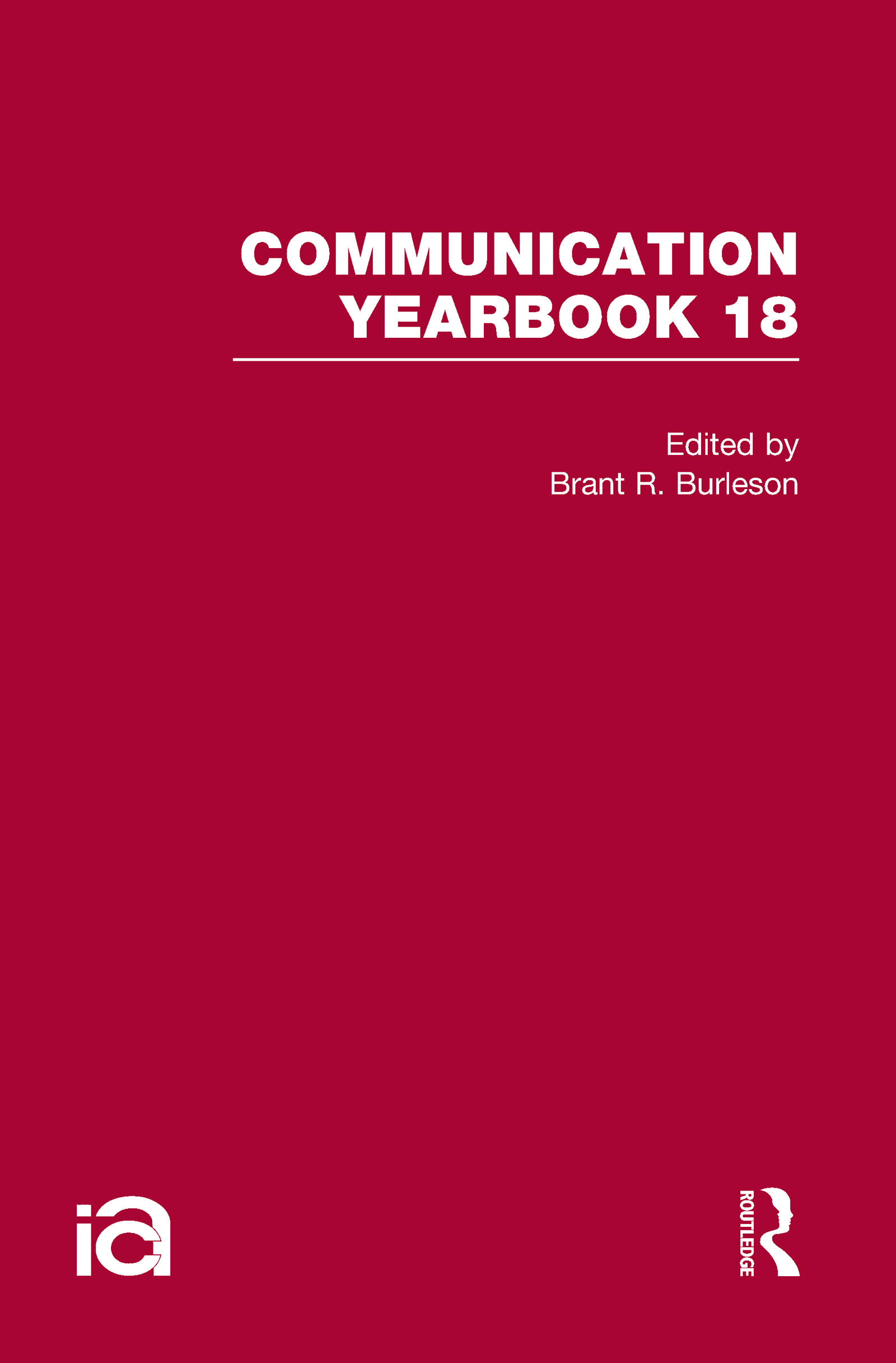 Communication Yearbook 18 (Hardback) book cover
