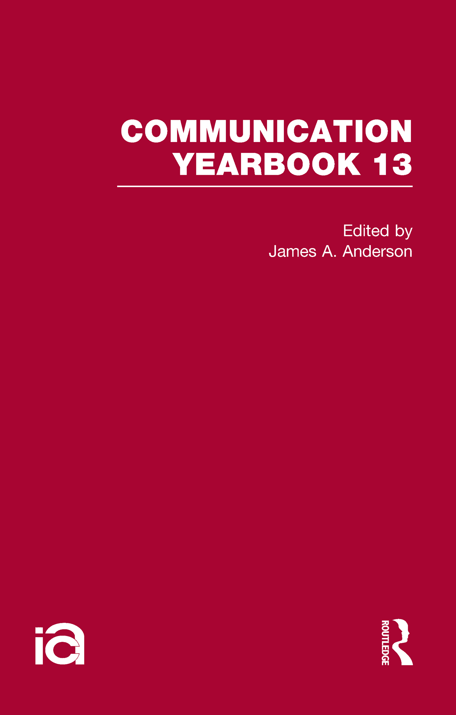 Communication Yearbook 13 (Hardback) book cover