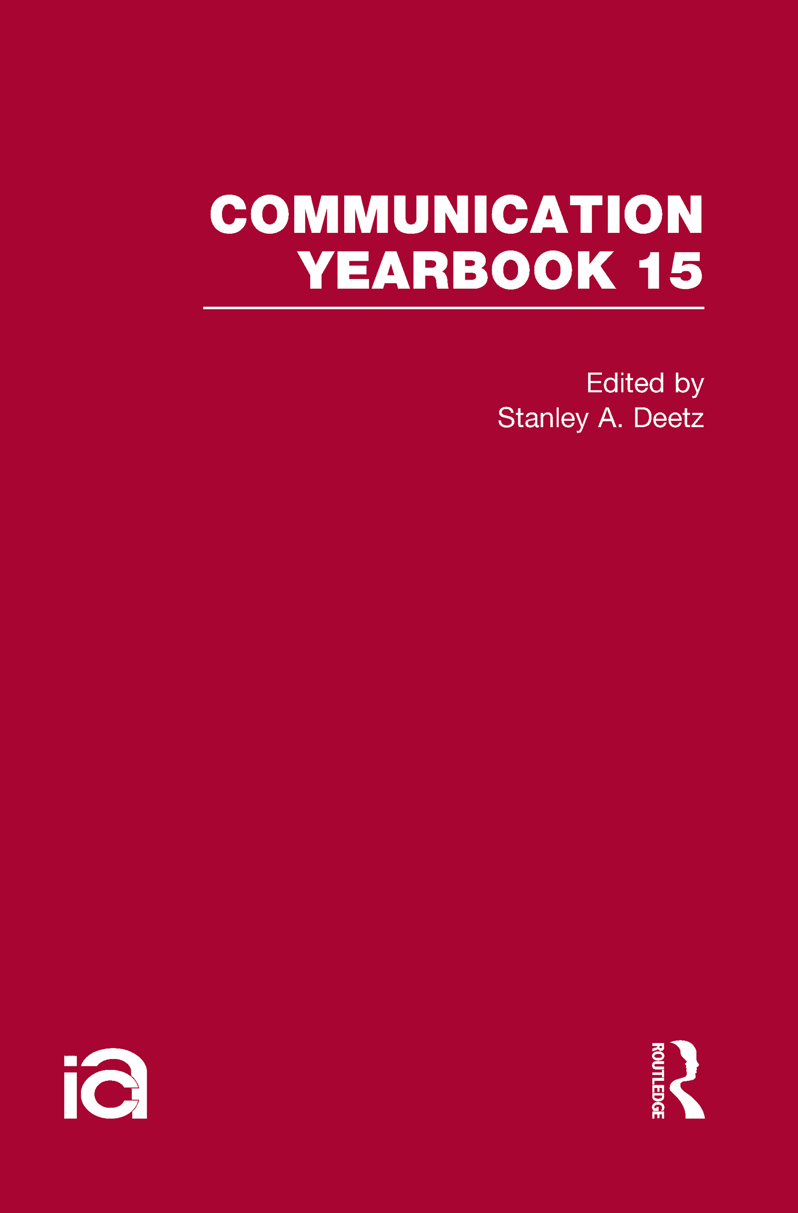 Communication Yearbook 15: 1st Edition (Hardback) book cover