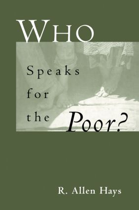 Who Speaks for the Poor: National Interest Groups and Social Policy book cover