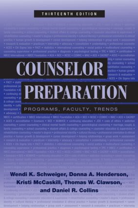 Counselor Preparation: Programs, Faculty, Trends, 13th Edition (Hardback) book cover