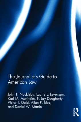 The Journalist's Guide to American Law (Hardback) book cover