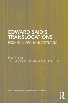 Edward Said's Translocations: Essays in Secular Criticism, 1st Edition (Hardback) book cover