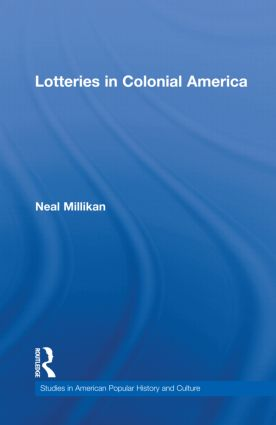 Lotteries in Colonial America (Hardback) book cover
