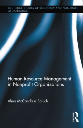 Human Resource Management in Nonprofit Organizations (Hardback) book cover