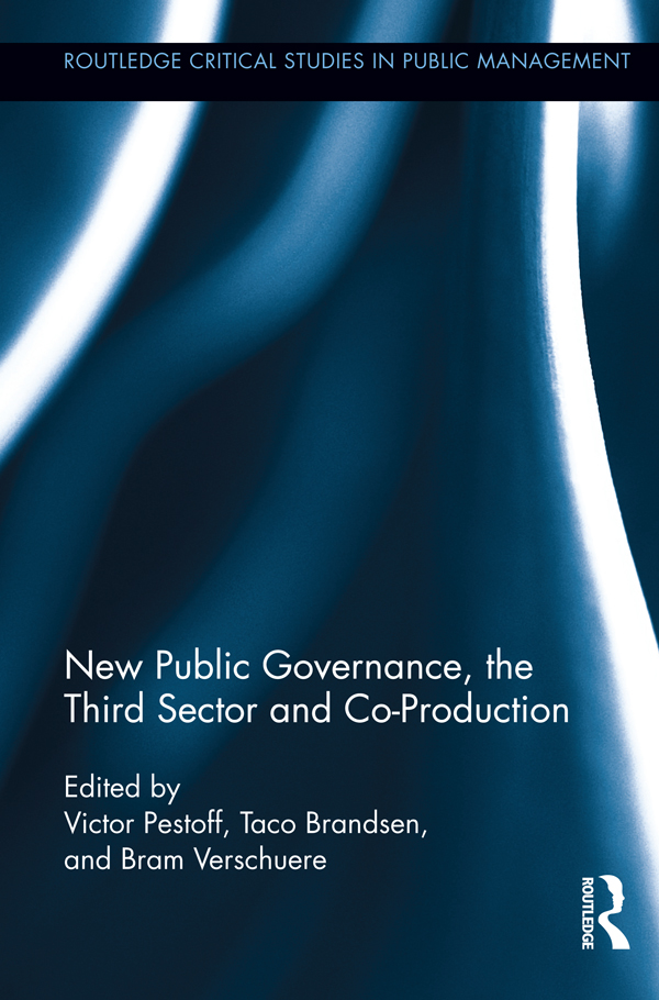 New Public Governance, the Third Sector, and Co-Production (Hardback) book cover