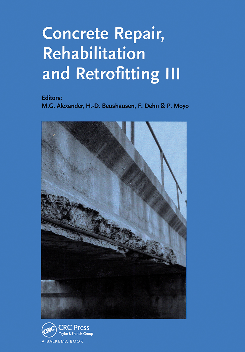 Concrete Repair, Rehabilitation and Retrofitting III: 3rd International Conference on Concrete Repair, Rehabilitation and Retrofitting, ICCRRR-3, 3-5 September 2012, Cape Town, South Africa (Pack) book cover