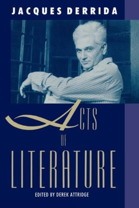Acts of Literature: 1st Edition (Paperback) book cover