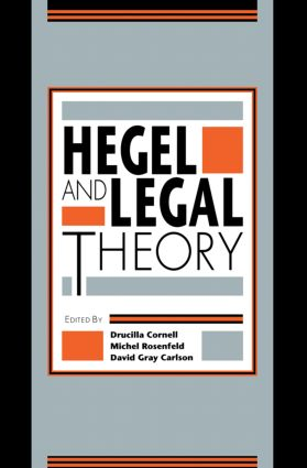 Hegel and Legal Theory: 1st Edition (Paperback) book cover