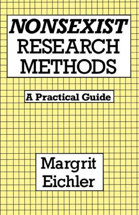 Nonsexist Research Methods: A Practical Guide, 1st Edition (Paperback) book cover