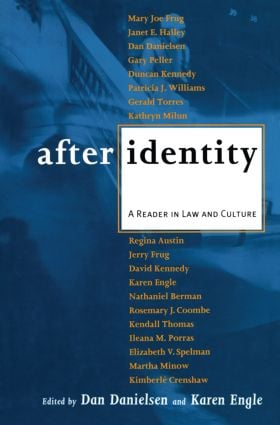 After Identity: A Reader in Law and Culture, 1st Edition (Paperback) book cover