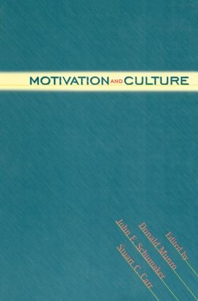 Motivation and Culture: 1st Edition (Paperback) book cover