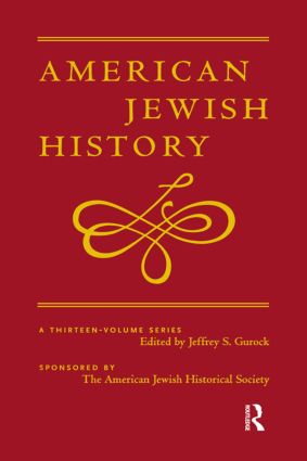 The Role of English Jews in the Development of American Jewish Life, 1775- 1850