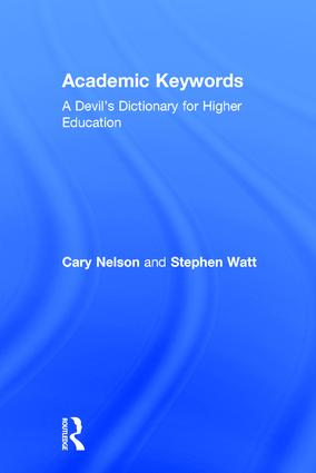 Academic Keywords: A Devil's Dictionary for Higher Education (Hardback) book cover