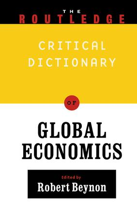 Routledge Companion to Global Economics: 1st Edition (Paperback) book cover