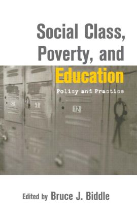 Social Class, Poverty and Education: 1st Edition (Hardback) book cover