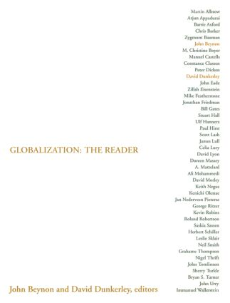 Globalization: The Reader: 1st Edition (Paperback) book cover