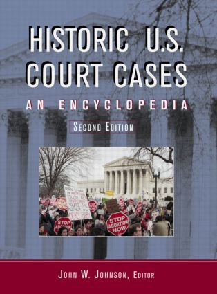 Historic U.S. Court Cases: An Encyclopedia (Hardback) book cover