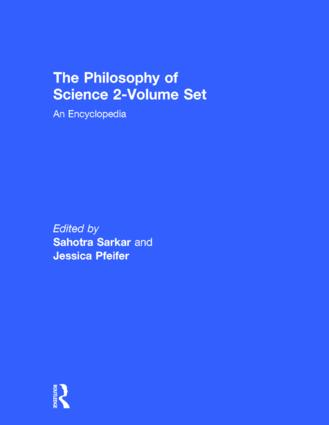 The Philosophy of Science 2-Volume Set: An Encyclopedia, 1st Edition (Hardback) book cover