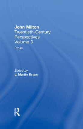 Prose: John Milton: Twentieth Century Perspectives (Hardback) book cover