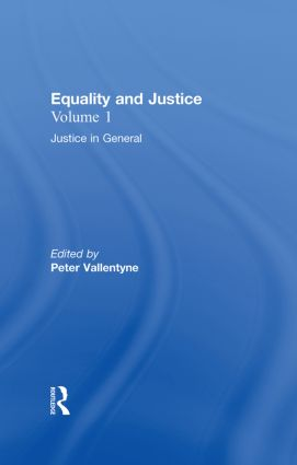 Justice in General: Equality and Justice book cover
