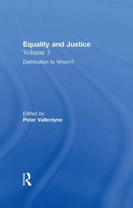 Distribution to Whom?: Equality and Justice, 1st Edition (Hardback) book cover