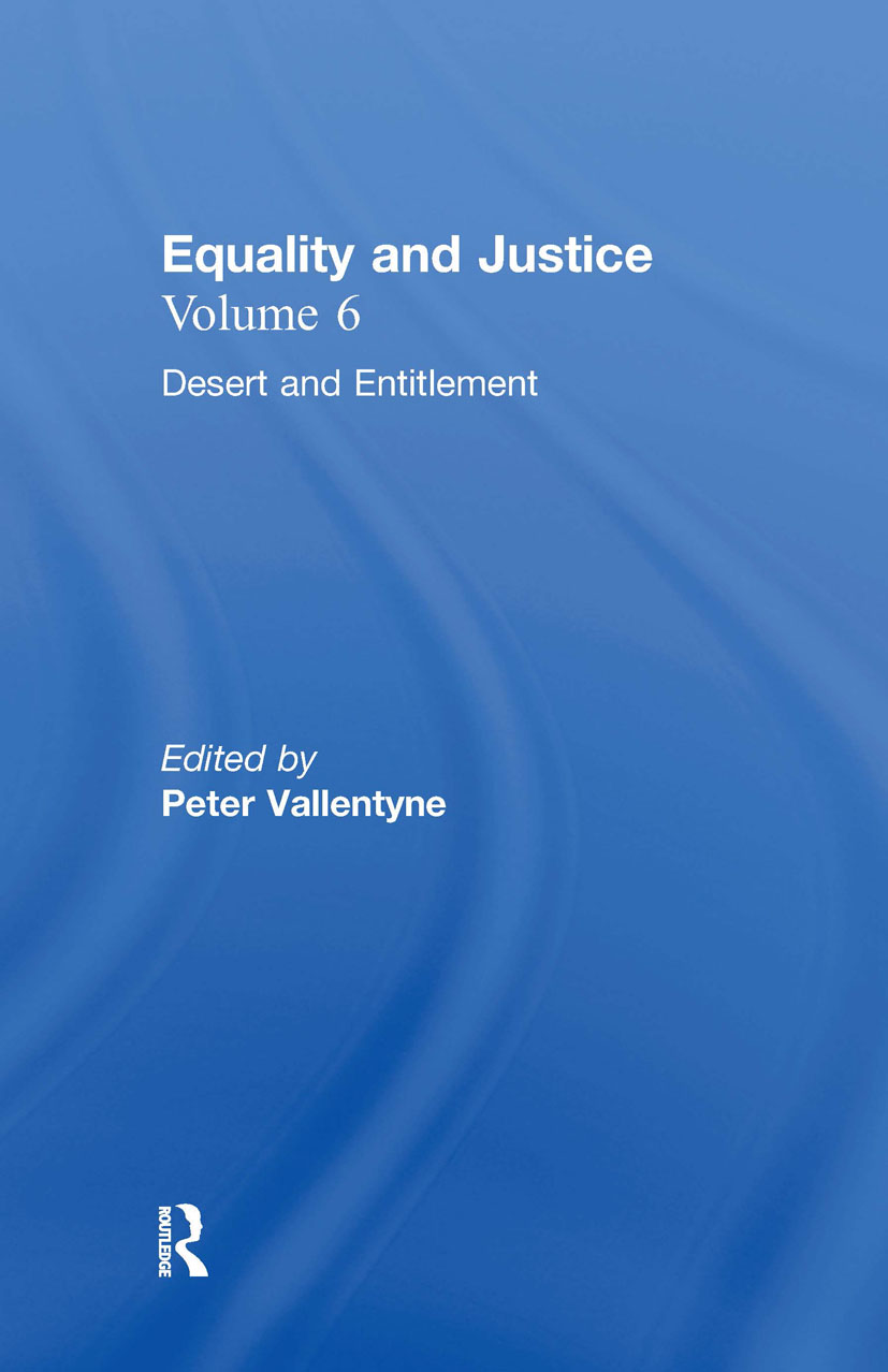 Desert and Entitlement: Equality and Justice book cover