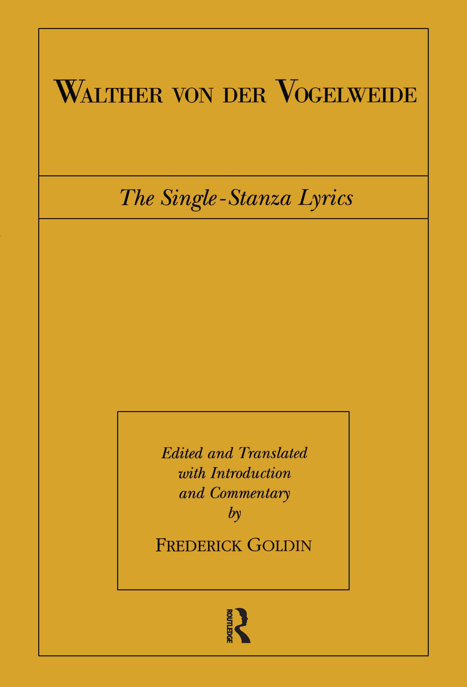 Walther von der Vogelweide: The Single-Stanza Lyrics book cover