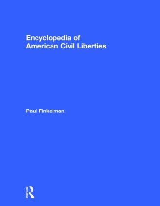 Encyclopedia of American Civil Liberties: 1st Edition (Hardback) book cover