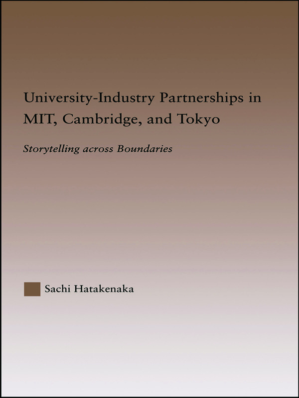 University-Industry Partnerships in MIT, Cambridge, and Tokyo: Storytelling Across Boundaries book cover