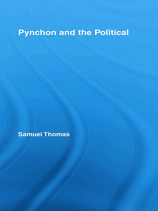 Pynchon and the Political (Hardback) book cover
