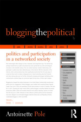 Blogging the Political: Politics and Participation in a Networked Society (Paperback) book cover