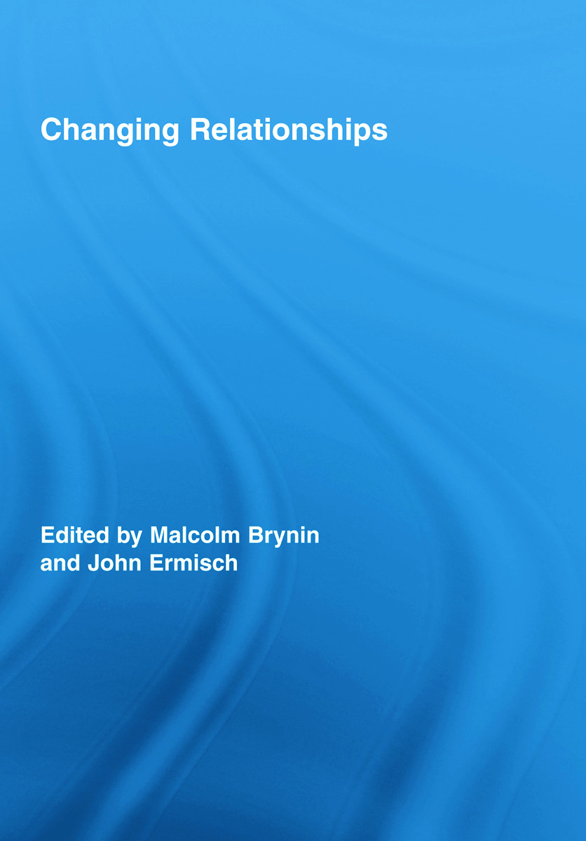 Changing Relationships (Hardback) book cover