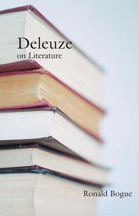 Deleuze on Literature (Paperback) book cover