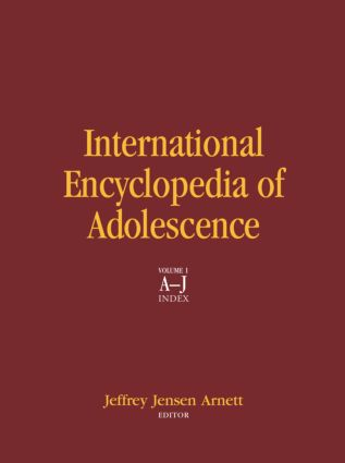 International Encyclopedia of Adolescence (Hardback) book cover