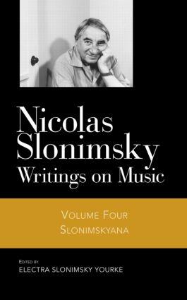 Slonimskyana V4: 1st Edition (Hardback) book cover